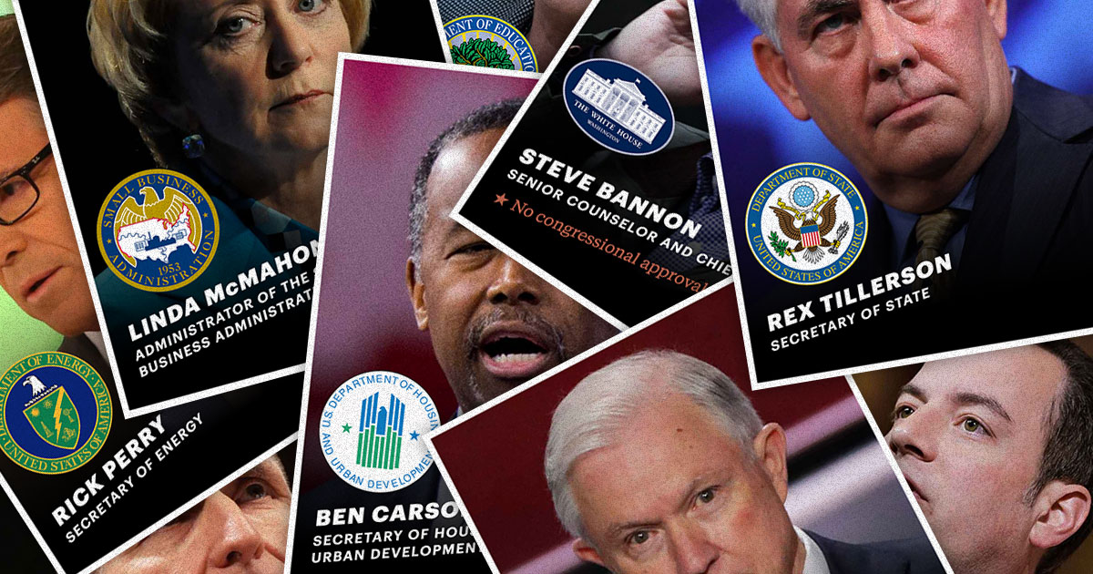 As the Cabinet Churns: Who's Still Standing Among Trump's Top Advisers