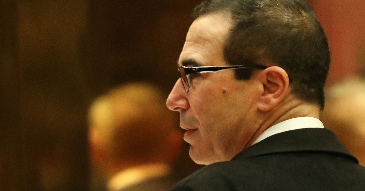 Trump's Treasury Pick Excelled at Kicking Elderly People Out of Their Homes