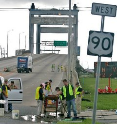 Danny Bourque / The Times-Picayune. The FBI seals off the Danziger Bridge a few months ago during the bureau's investigation into the bridge shooting in September 2005.