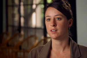 Journalism grad student Leah Bartos (Photo courtesy of PBS Frontline)