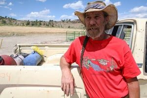Rick Roles, a rancher in Garfield County, Colo., whose property is dotted with gas wells and used to be near a set of waste pits, told ProPublica in 2008 that his eyes and throat burned relentlessly and that he was experiencing intense fatigue. (Abrahm Lustgarten/ProPublica)