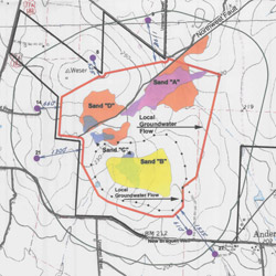 The original aquifer exemption boundaries for a mine in Goliad, Texas, as proposed by the Texas Commission on Environmental Quality. (Texas Commission on Environmental Quality)