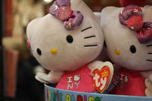 A Beanie Babies display in Grand Central Terminal, in New York, N.Y., on April 21, 2013. Ty Inc. became one of the world's largest manufacturers of stuffed animals thanks to the craze over Beanie Babies in the 1990s. (Krista Kjellman Schmidt/ProPublica)