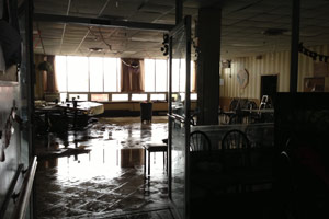 A room inside the Seaview Manor Home for Adults in Far Rockaway in Queens, on Oct. 30, after the home evacuated its 124 residents. (Sheri Fink)