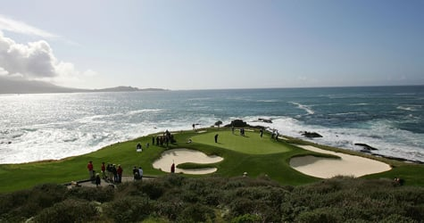 The 7th green at the Pebble Beach Gold Links in Pebble Beach, Calif. Sen. Saxby Chambliss' leadership PAC, the Republican Majority Fund, spent $19,341 there during the 2008 election cycle, according to a ProPublica analysis of data provided by the Center for Responsive Politics. (Jed Jacobsohn/Getty Images)