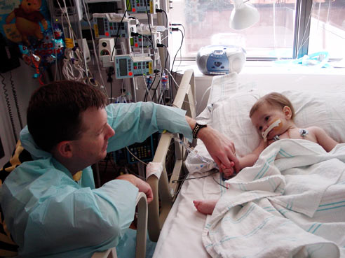 Oct. 16, 2006: Natalie Fullerton, 14 months old, survives a double-lung transplant. Her father will later use an AM2PAT syringe to clear an implanted tube near her heart.