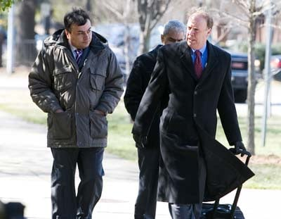 Plant manager Aniruddha Patel, left, was sentenced to 4½ years in prison. (AP Photo/The News & Observer/Shawn Rocco, Feb. 23, 2009)