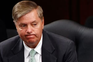 Sen. Lindsey Graham at a Senate Judiciary Committee hearing on July 28, 2009. (Win McNamee/Getty Images)