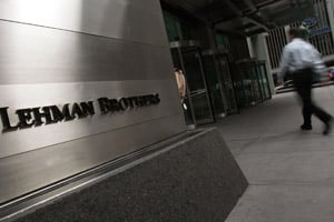 Magnetar partnered with Lehman Brothers on the CDO named after the constellation Libra, which closed in October 2006. A banker who worked on the CDO remembers that 'there was a back-and-forth fight about' assets between Lehman and Magnetar, with the hedge fund pushing for riskier assets. (Chris Hondros/Getty Images)