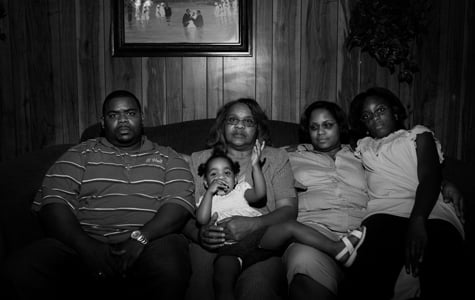 The family of Emmett Everett in LaPlace, La. Carrie Everett, second from left, asked, 'Who gave them the right to play God?' (Paolo Pellegrin/Magnum Photos)