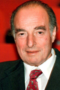 Marc Rich, seen here in a photo taken in November 1998, was pardoned by President Clinton on his last day in office. The decision caused an uproar once it was reported that Rich's ex-wife had donated almost half a million dollars to the Clinton presidential library. (Guido Roeoesli/AFP/Getty Images)
