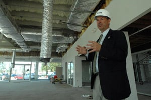 Dale Critz Jr. talks about the renovations at the Critz Mercedes-Benz Dealership on the corner of Stephenson and Abercorn in February 2011. (Richard Burkhart/Savannah Morning News)