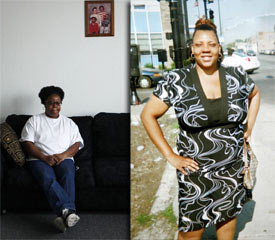 Tameka Williams, 27, died in 2007 shortly after Reinstein prescribed clozapine to her. Pictured left is her mother, Carlina Williams. Reinstein disputes the allegation that clozapine was the cause of her death (Chris Walker/Chicago Tribune).